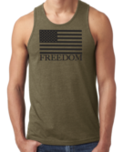 FOCC--Mens Freedom Tank (Green)