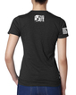 FOCC--Womens I Love America V Neck Tshirt (Back)